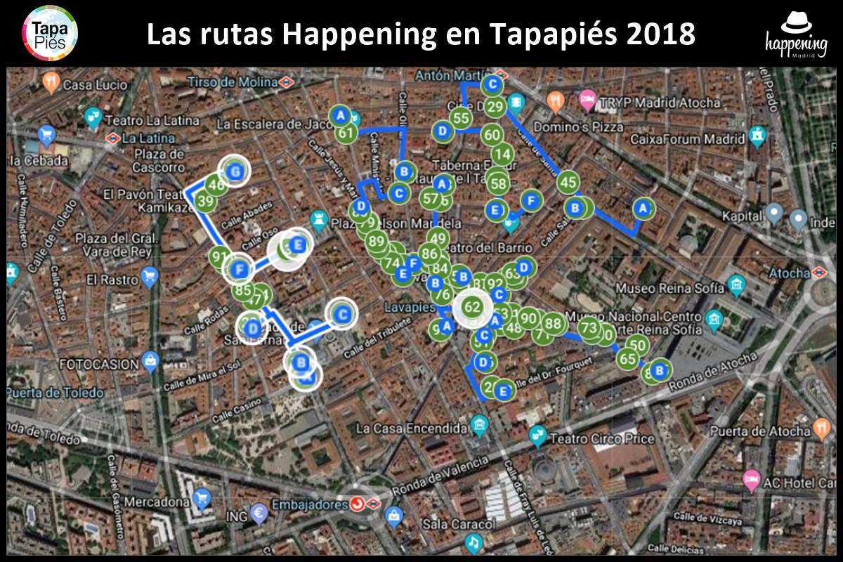 rutas tapapies 2018 - Tapapiés 2018. Ruta Multicultural de la tapa y la música de Lavapiés. Las rutas Happening
