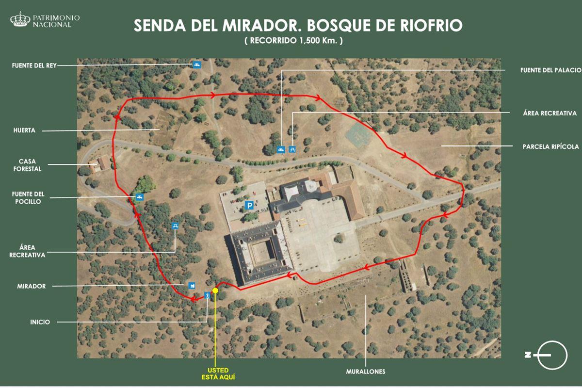 senda mirador 1 - Excursión y visita al soto y palacio de Riofrío