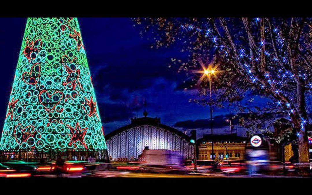 Merienda y luces de navidad
