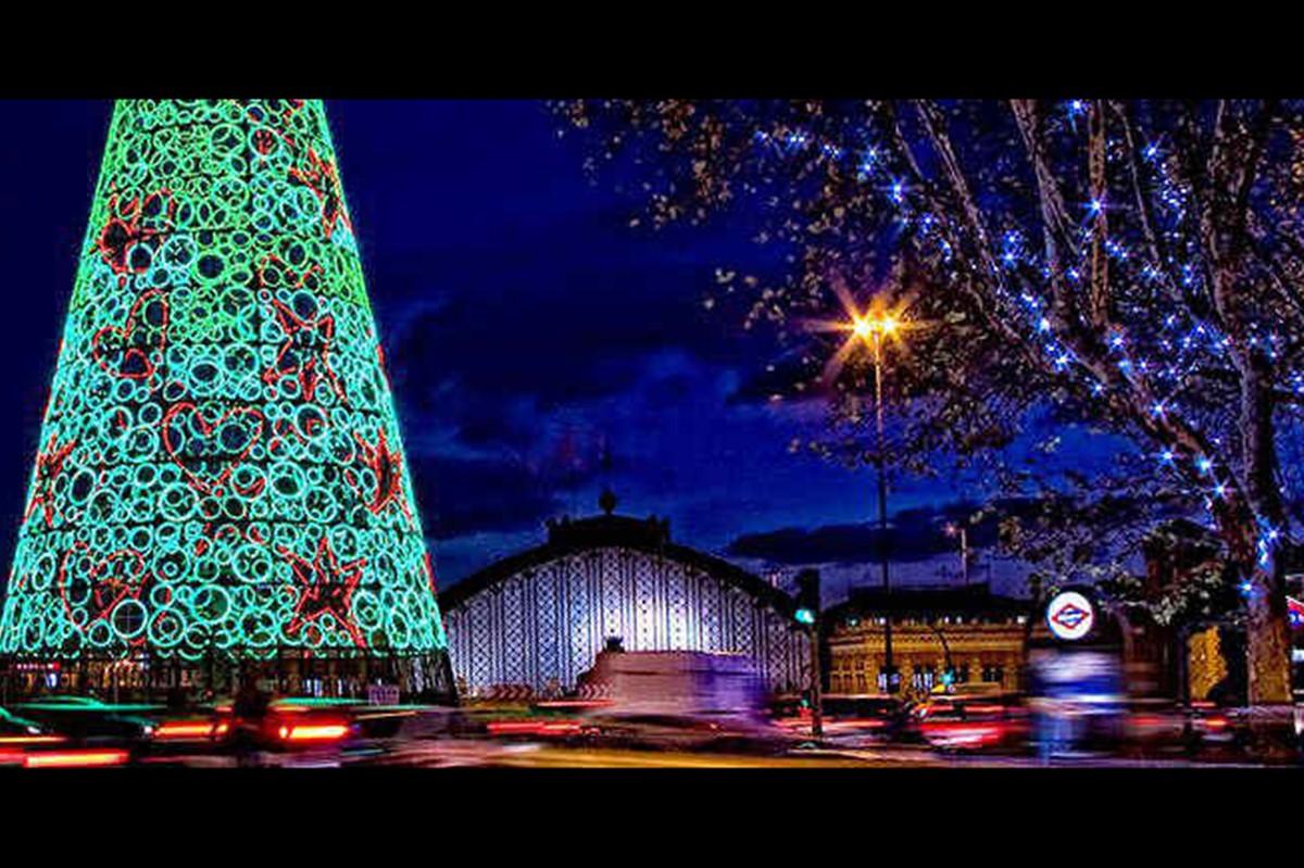Merienda y luces de navidad happening madrid - Luces para navidad ...