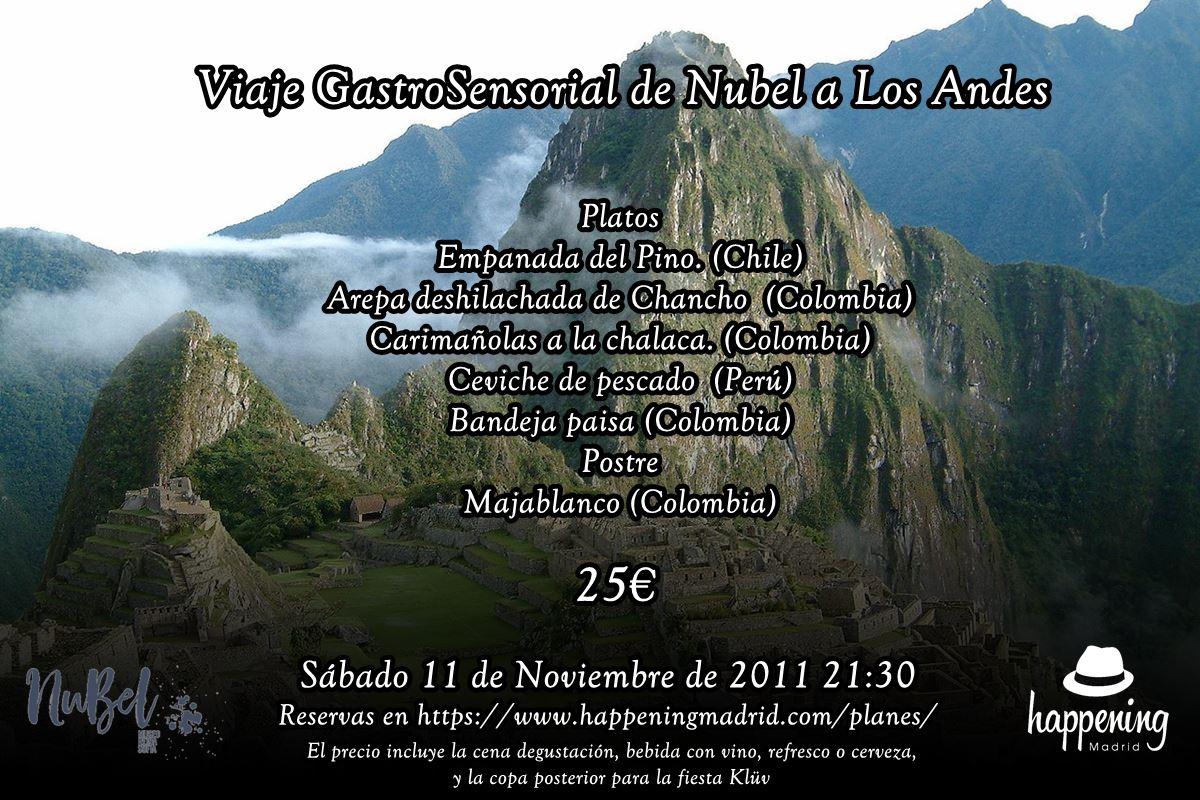 menu viaje gastrosensorial andes - Cine en JazzMadrid 17 con Ascensor para el Cadalso con merienda en Federal Café