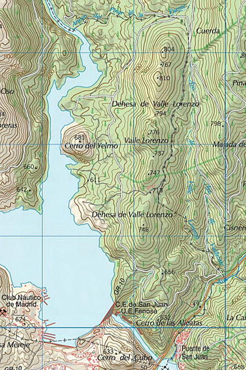plano san juan - Excursión con baño en la Lancha del Yelmo en el  Pantano de San Juan
