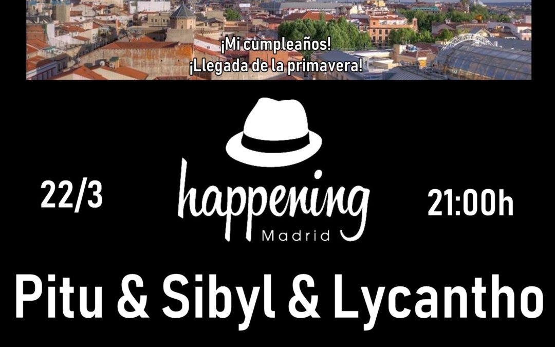 La fiesta anual de Happening Madrid. Concierto de Pitu + Sibyl + Lycantho.