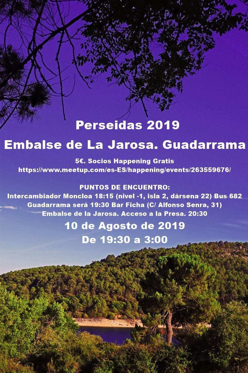 perseidas 2019 cartel 2 - Noche de Perseidas