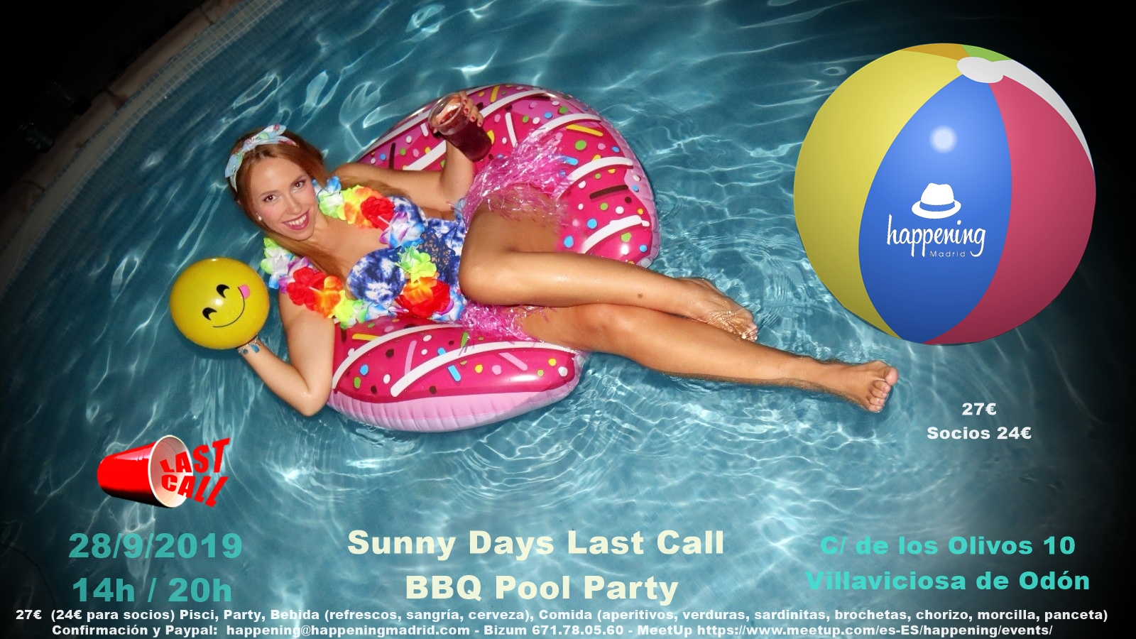 Happening BBQ Pool Party