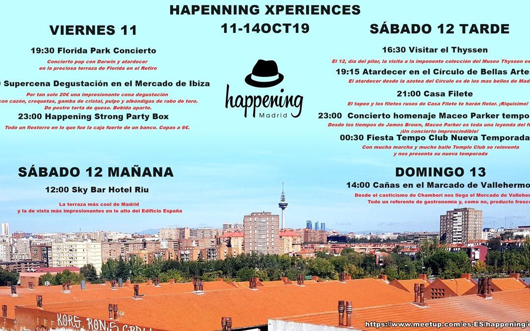 Happening Xperiencies del 11 a 13 del Octubre
