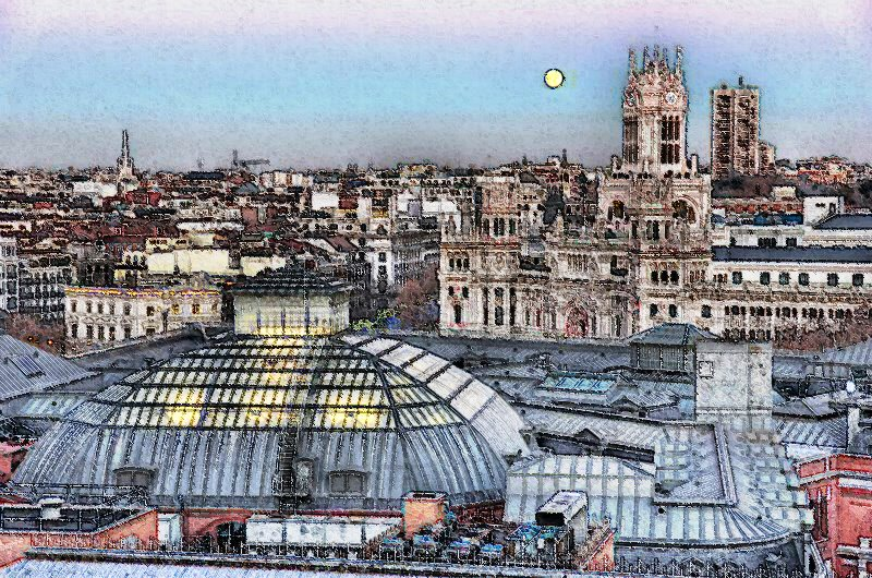 suecia 6 - Kept it simple.  Enjoy Madrid SkyLine.  As time goes by in summertime